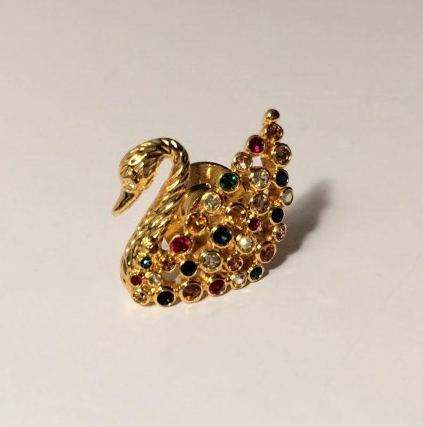 Art Nouveau Pruple Swirl Gold Pin