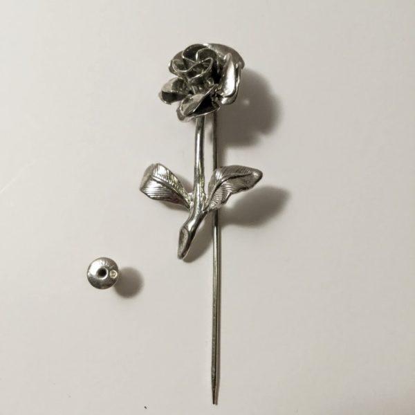 Monet Silver Flower Stick Pin